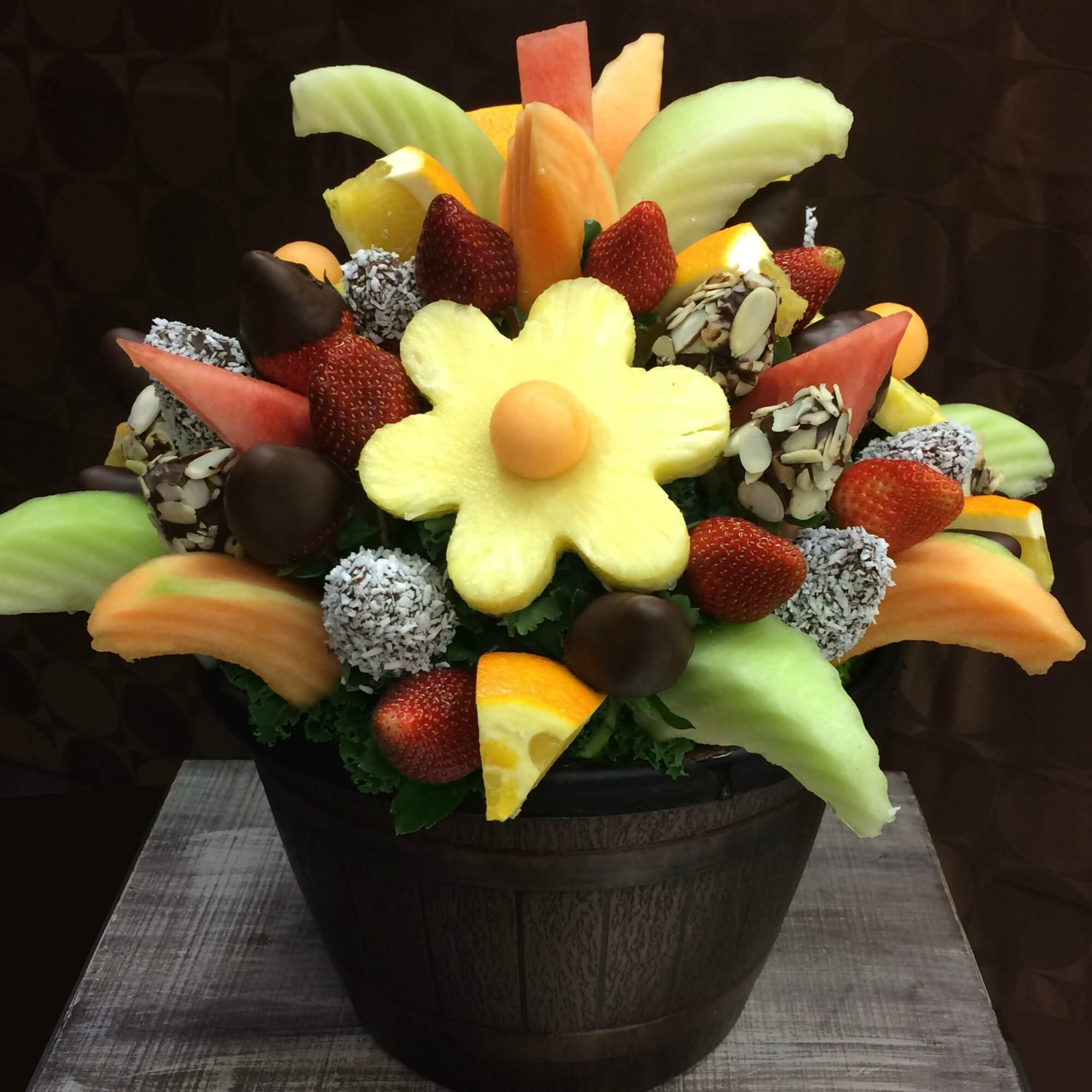 Pineapple Message Flower Fruitiful Bouquets